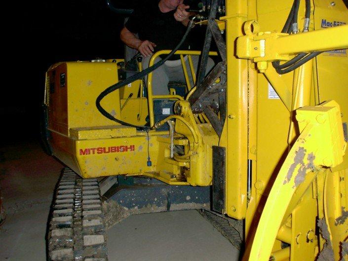 zollatrice escavatore mitsubishi